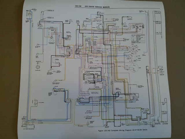 1970 71 72 wiring diagrams easy to read poster size rh v8buick com